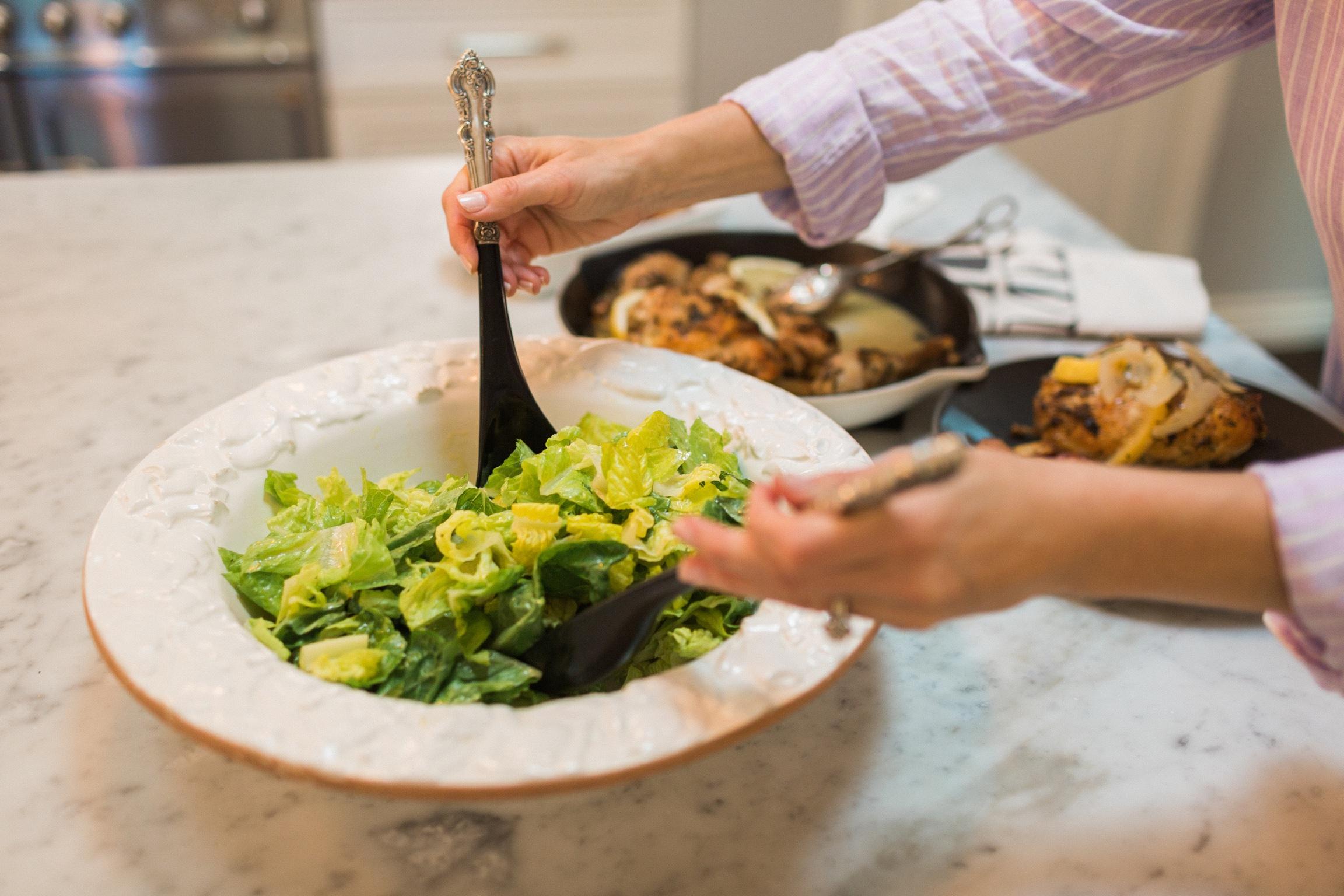 Easy Salad with Lemon Dijon Vinaigrette
