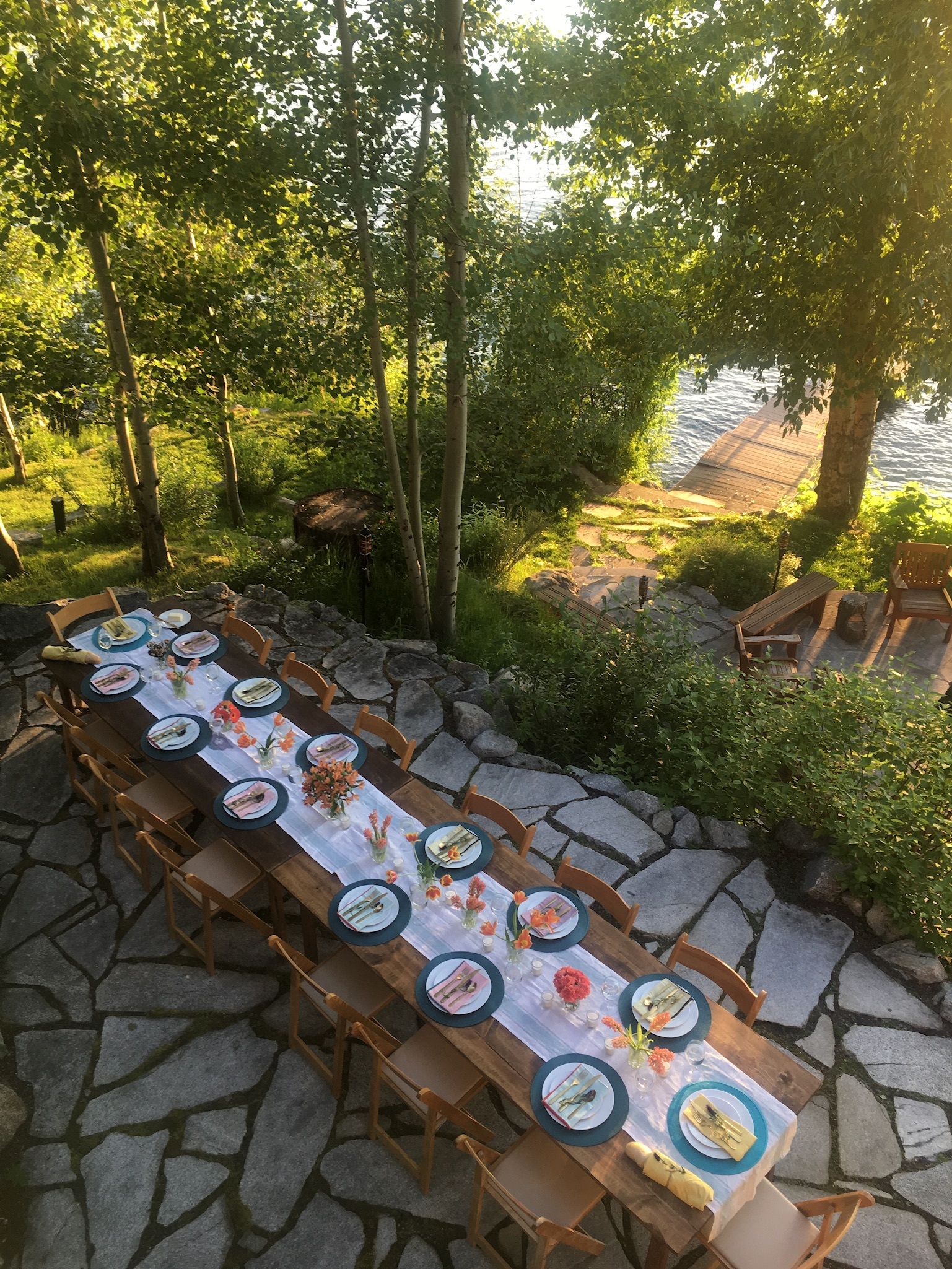 How to Host in a Rental House: My Lakefront Dinner Party