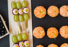 Healthy Halloween-themed kid snacks