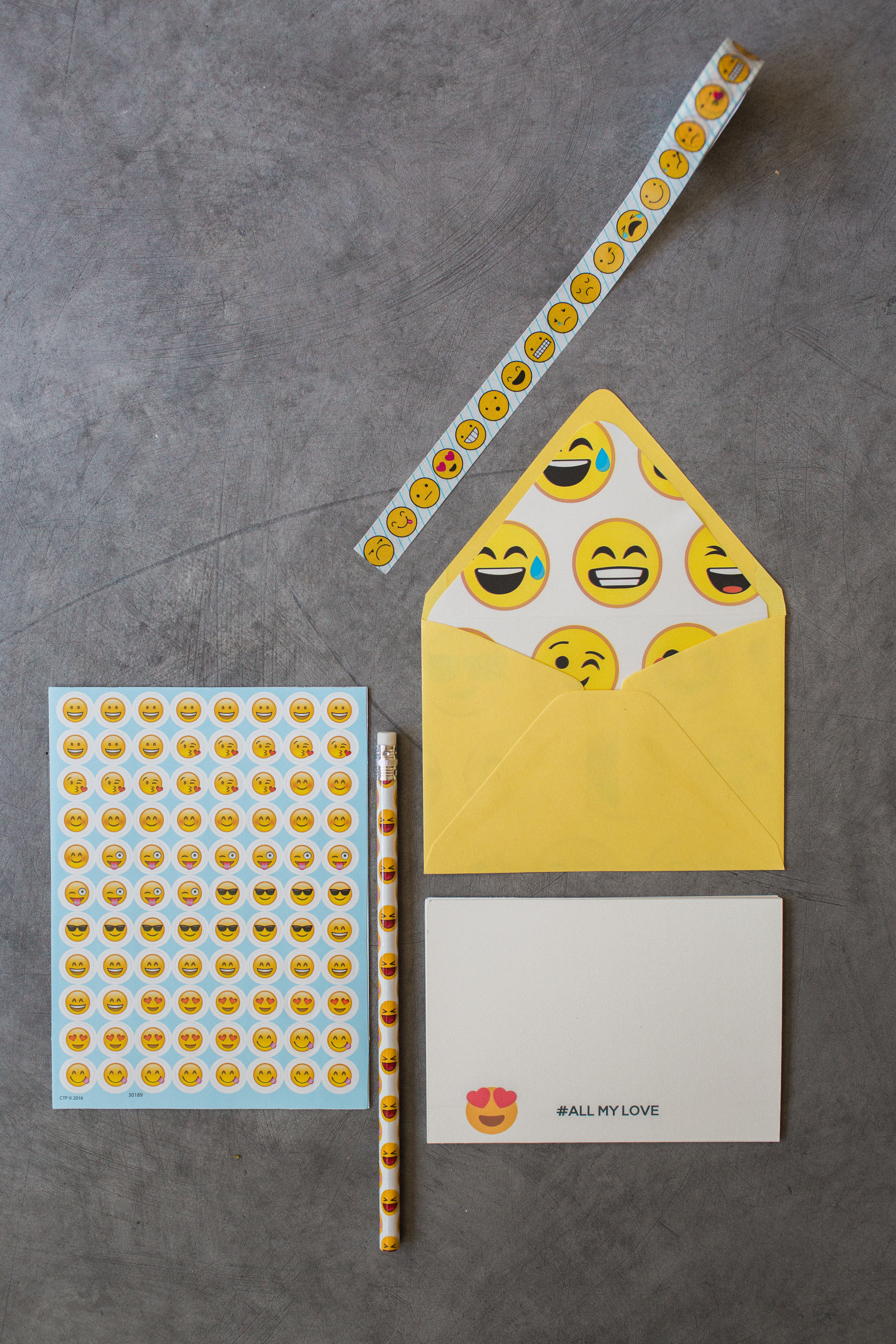 Emoji notecards set from Pretty Paper Club