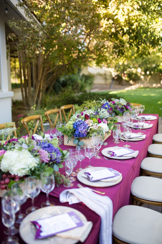 wine tasting party tablescape