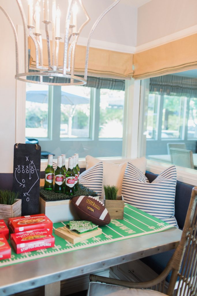 easy decor for Super Bowl party