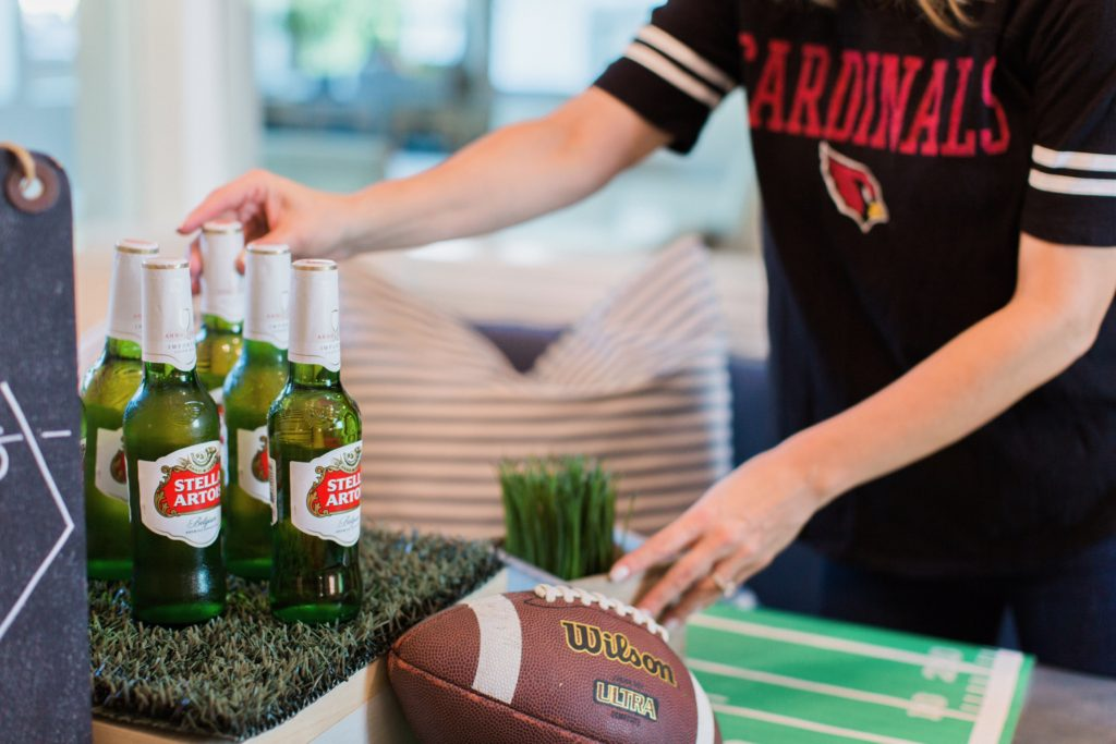 easy Super Bowl party decor