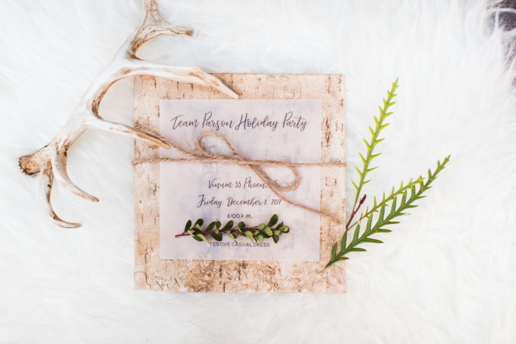 birch wood invitations