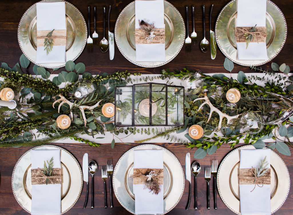 nordic holiday table setting