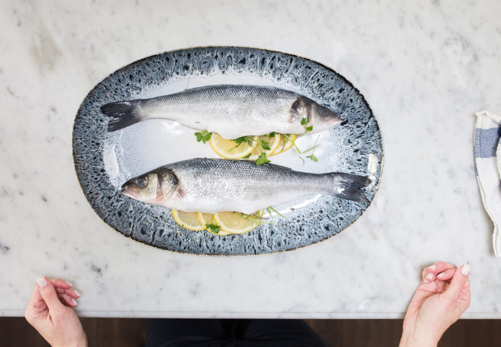 Salt-Crusted Whole Branzino