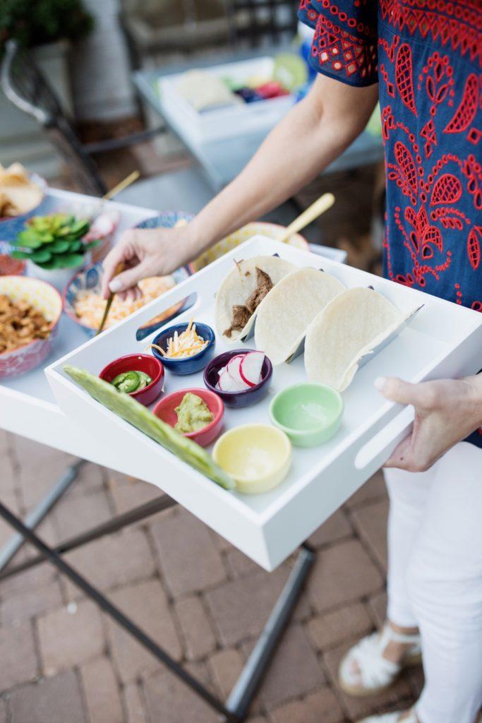 individual taco bar trays