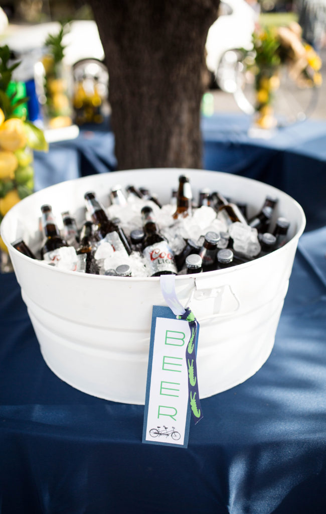 beer in white tub