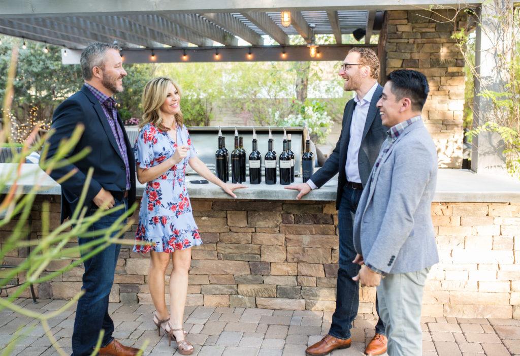 Discussing wine