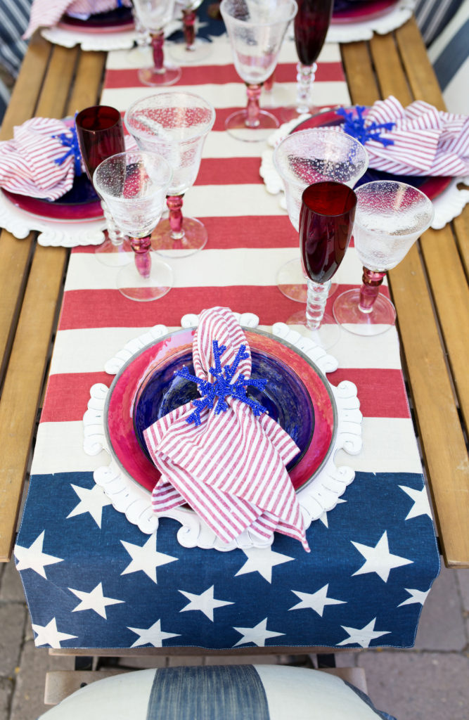 pottery barn flag table runner