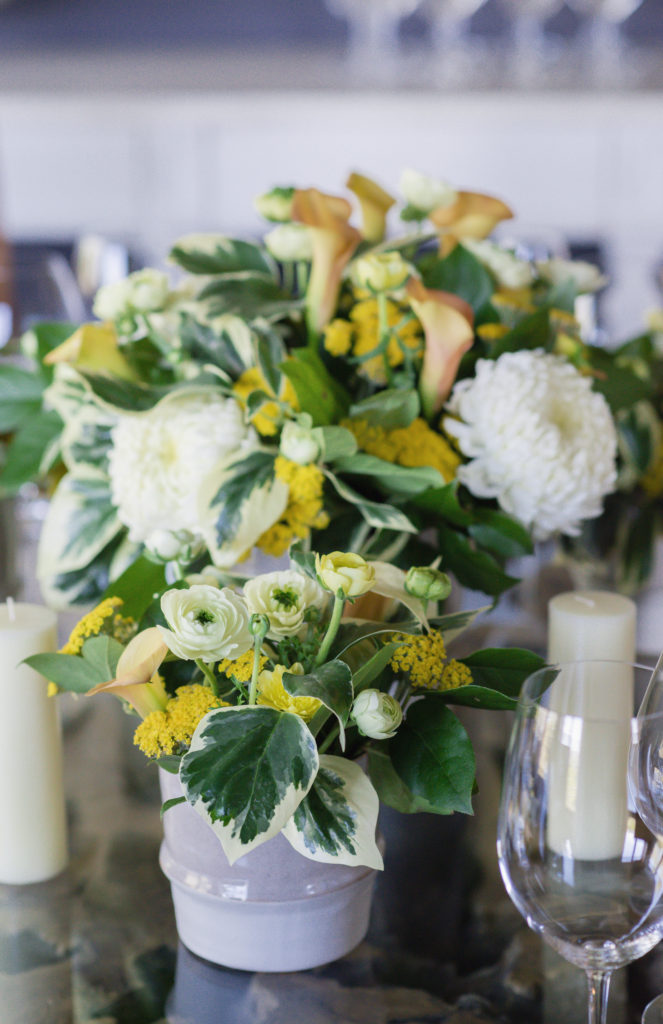 florals for wine country chef dinner