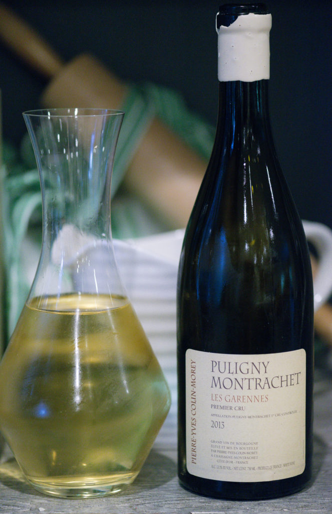 puligny montrachet served at wine country chef's dinner