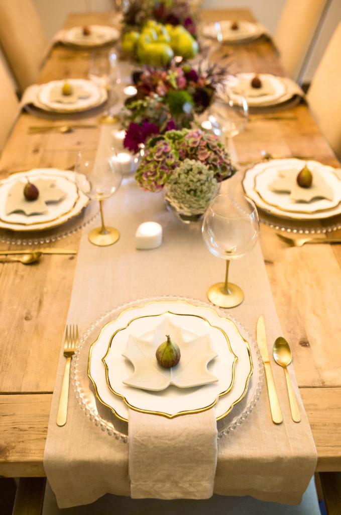 fall produce as table decor