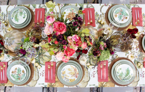 harvest supper table