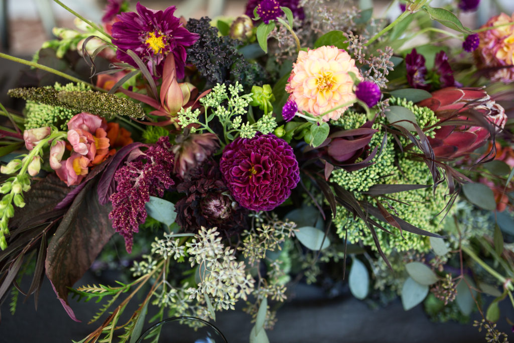 jewel toned thanksgiving tablescape