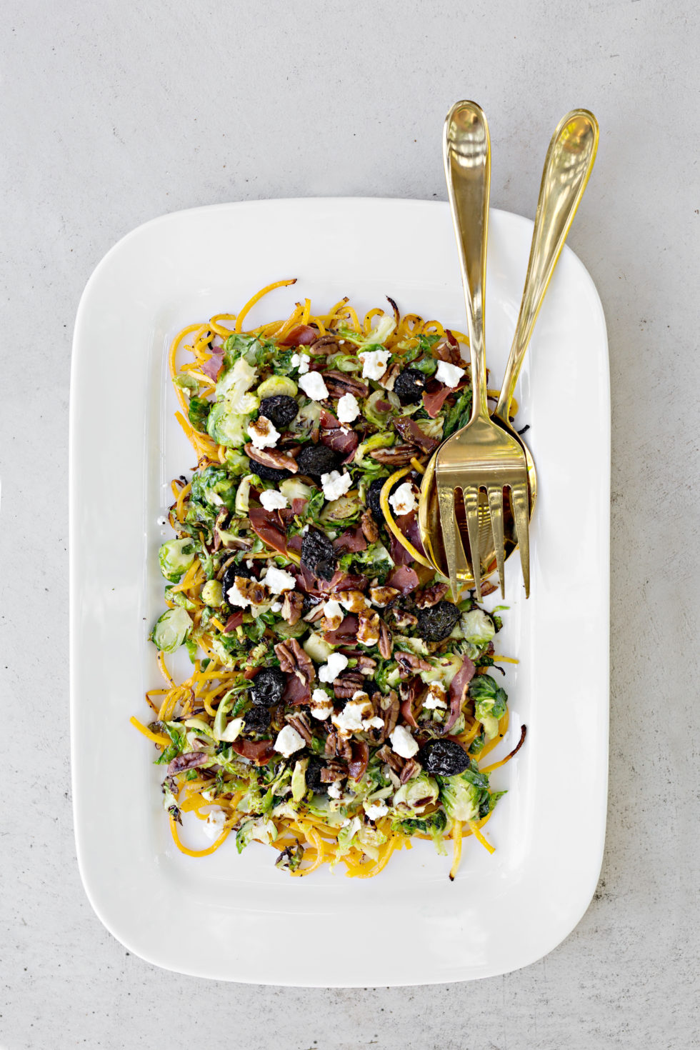 brussel sprout butternut squash salad