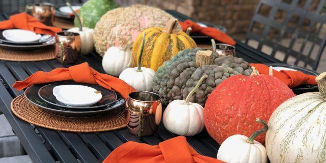 all pumpkin tablescape