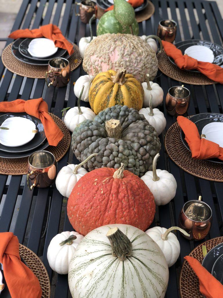 all-pumpkin fall centerpiece