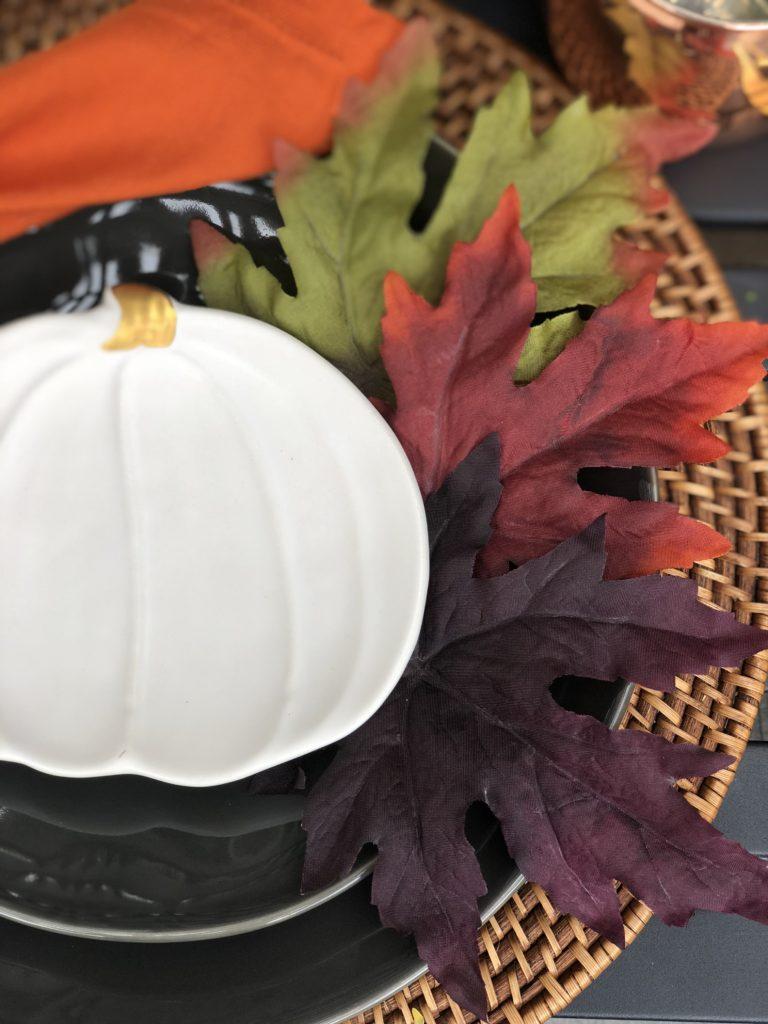 Fall decor leaves
