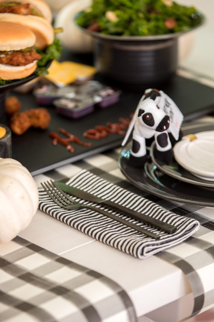 black white stripe napkins