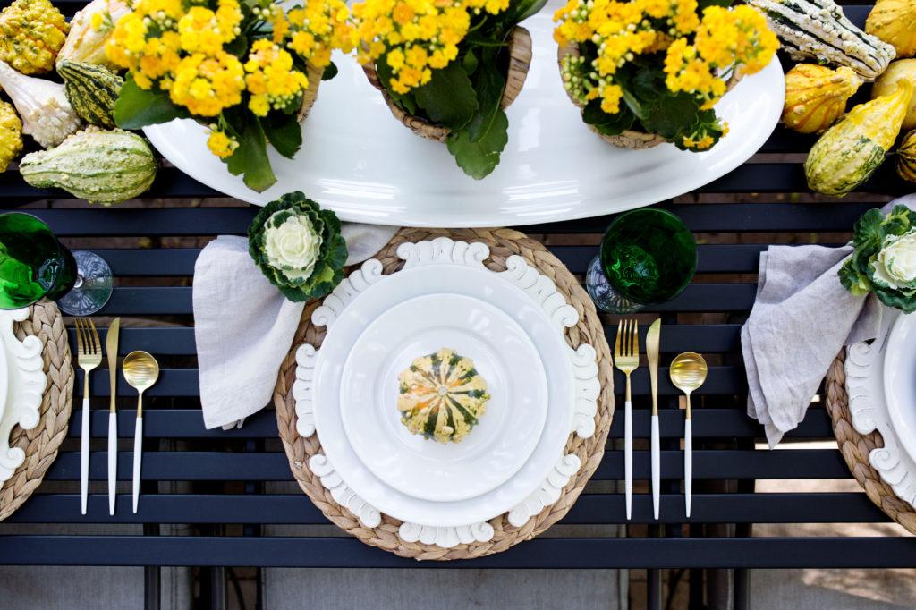 oval white platter