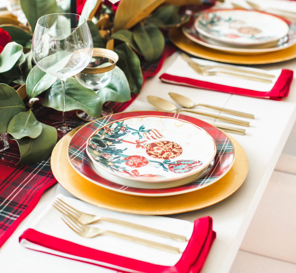 Traditional and classic Christmas table