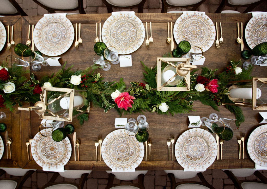 Elegant Italian dinner table