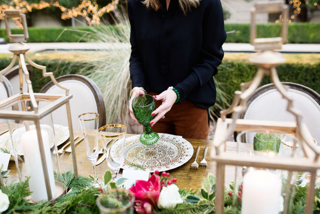 Elegant Italian dinner party table