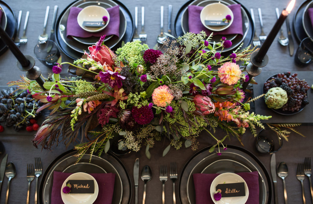 Jewel-toned Tablescape