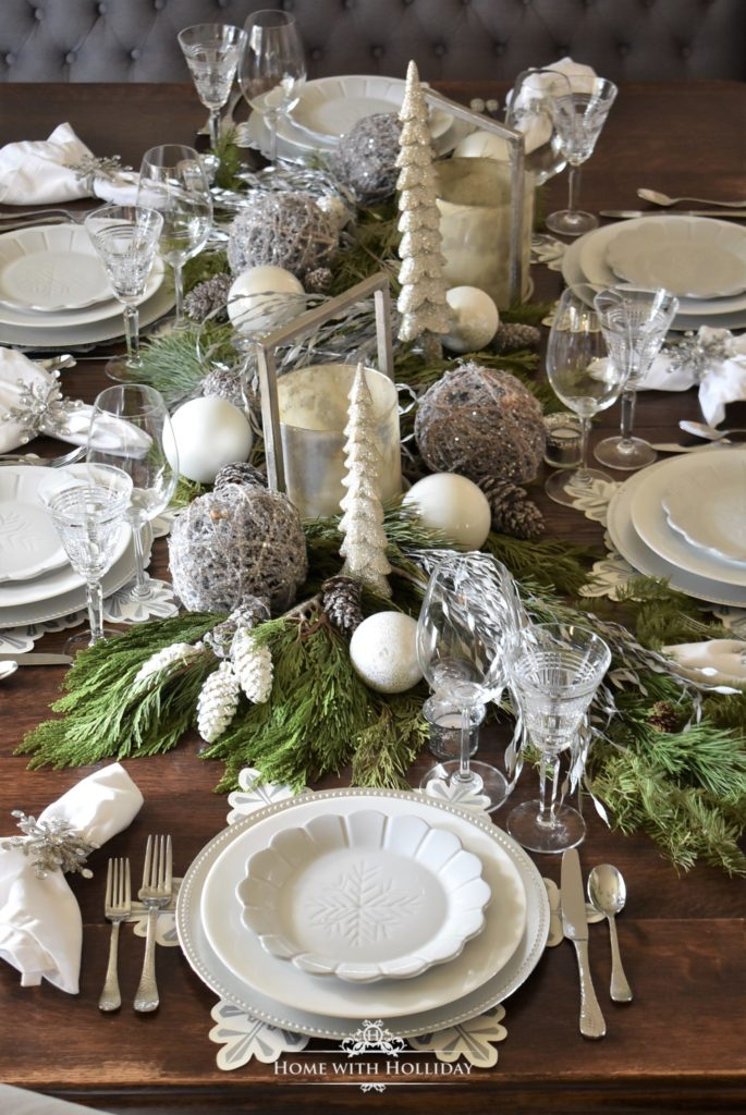 All White Holiday Table