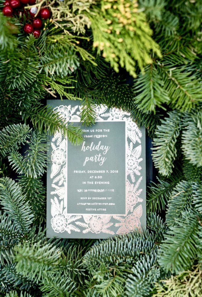 Front door pine wreath