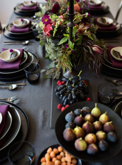 Inspiration for an Elegant Purple Jewel-Toned Tablescape