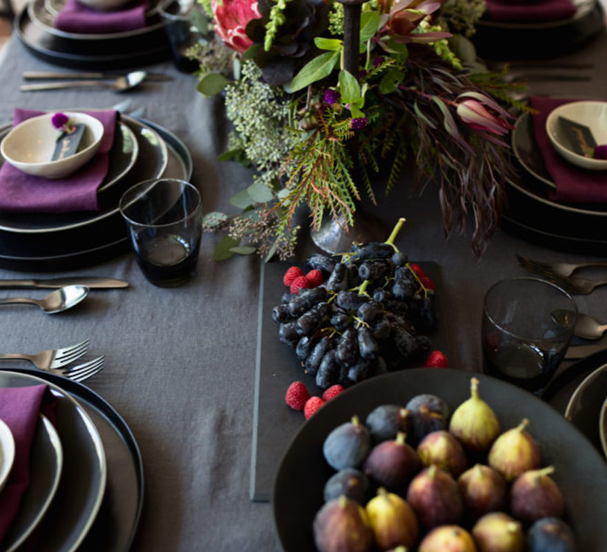 Jewel toned tablescape-feature