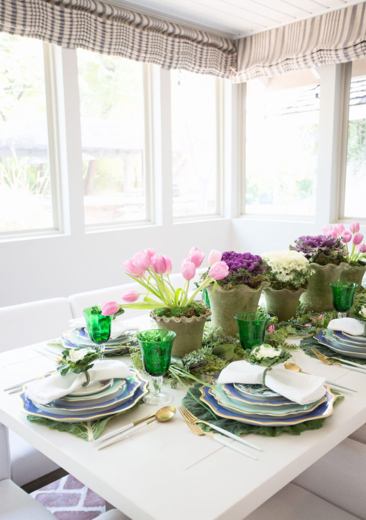 Easter tulip table