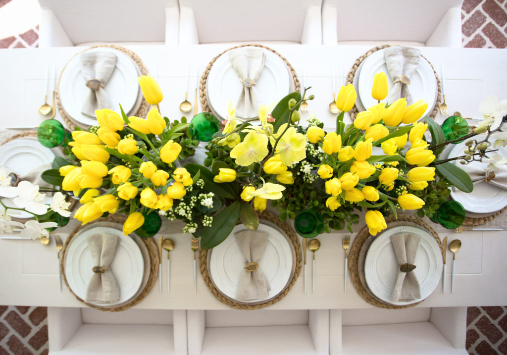 Yellow tulip table