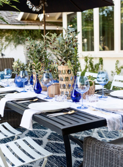 Mediterranean-Inspired Dinner Party: Blues, Whites and Earthy Neutrals