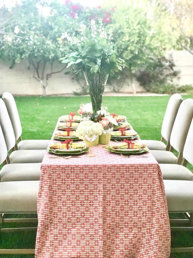 greek key tablecloth