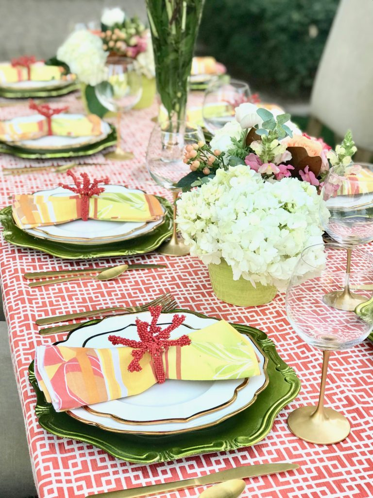 coral lawn table