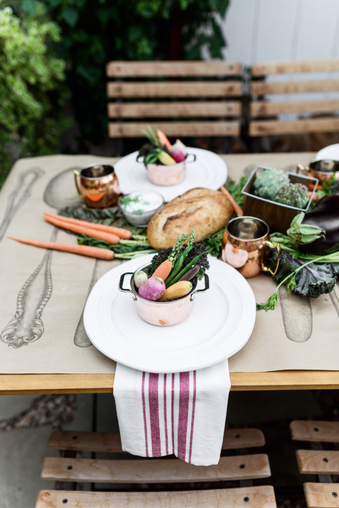 farmer's market dinner party vegetable plate