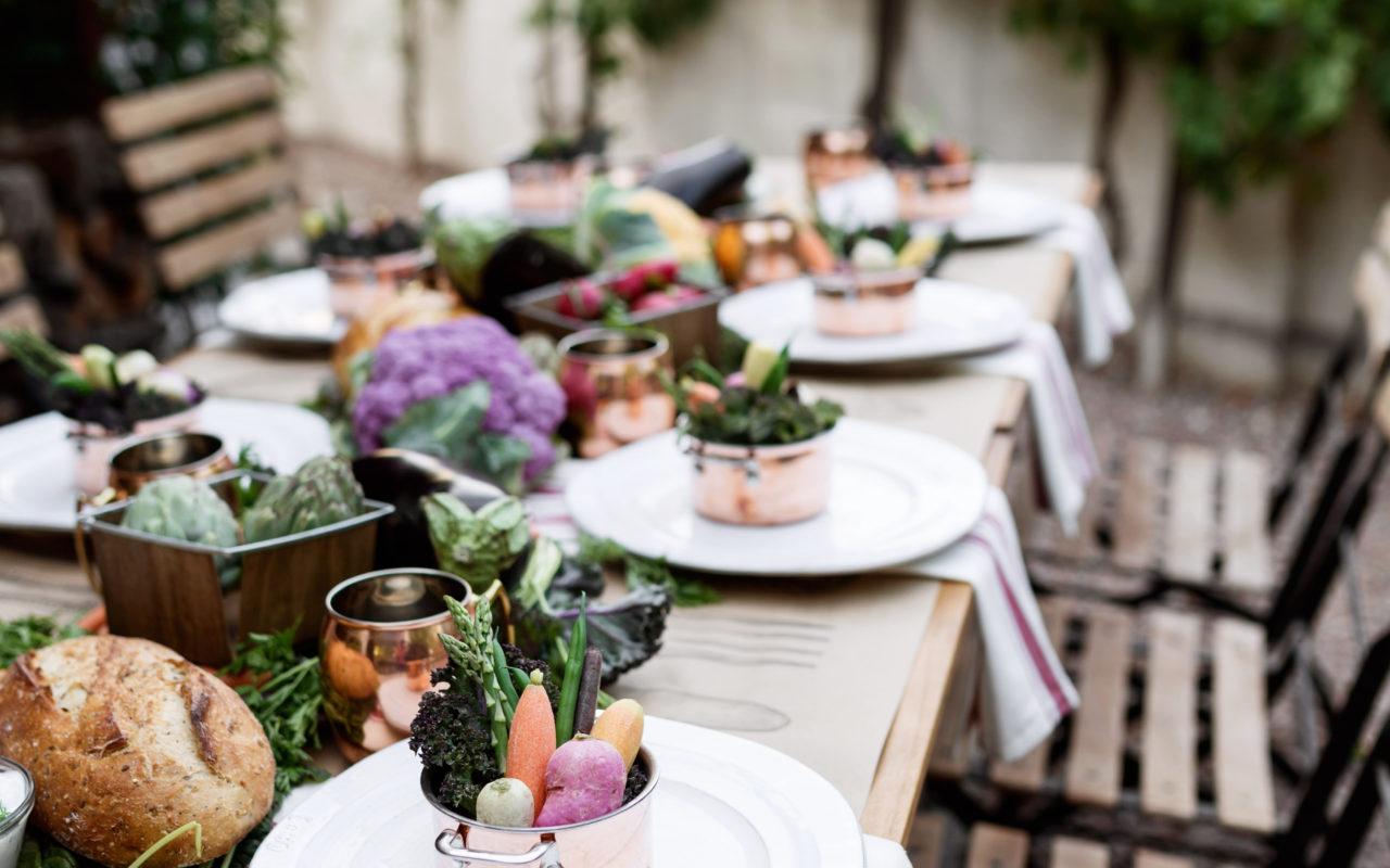 farmer's market dinner party