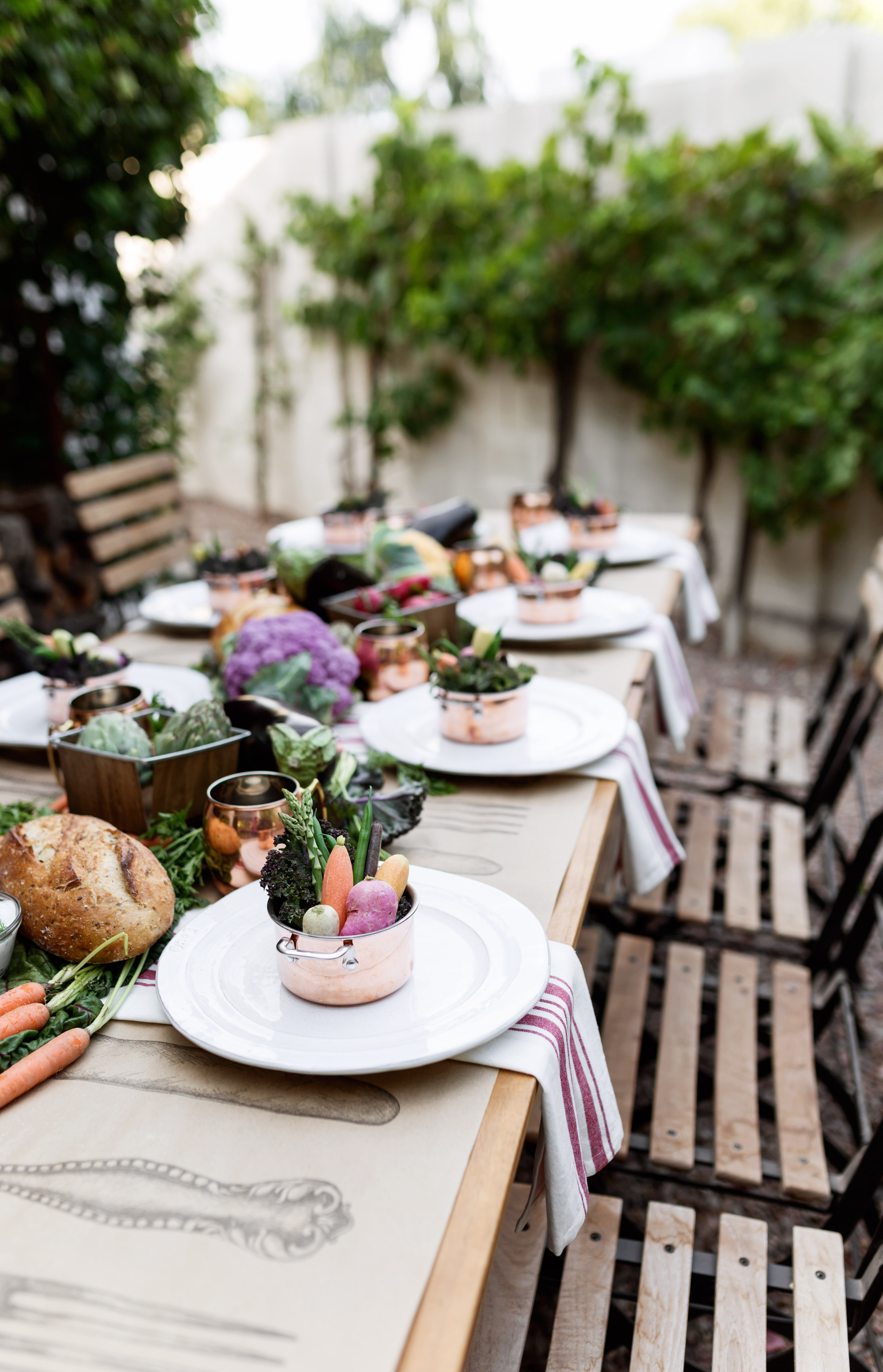 Farmer's Market Dinner Party with Yankee Candle