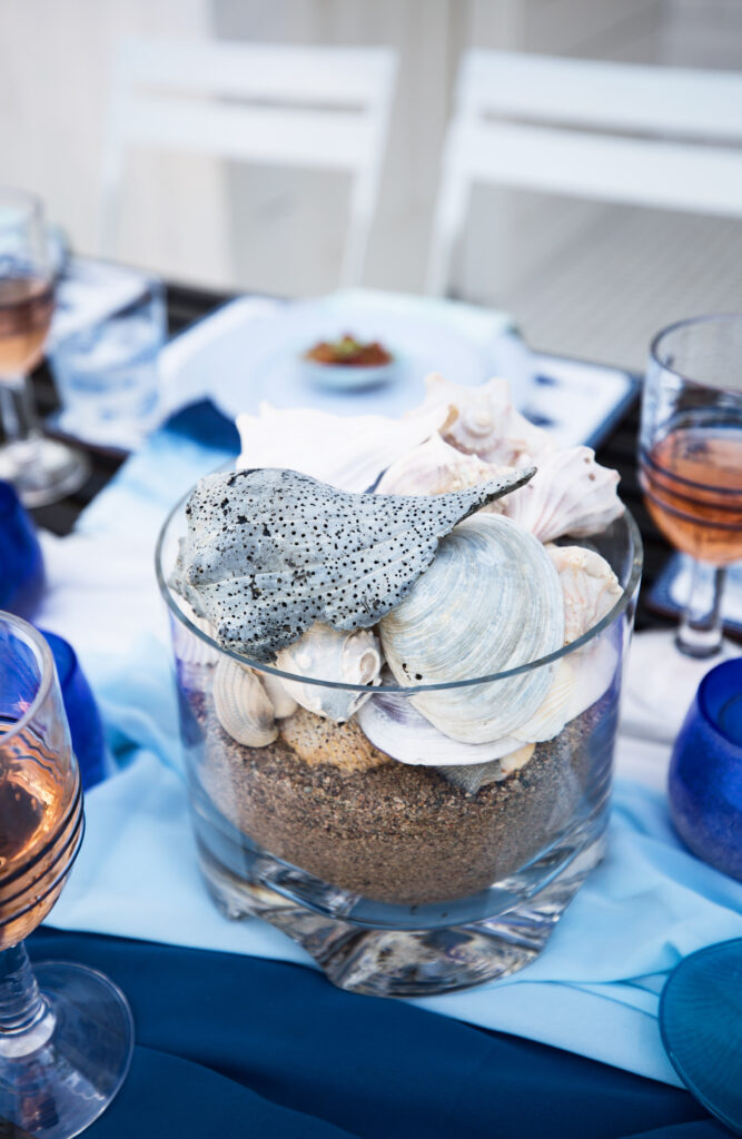 ocean-inspired centerpiece