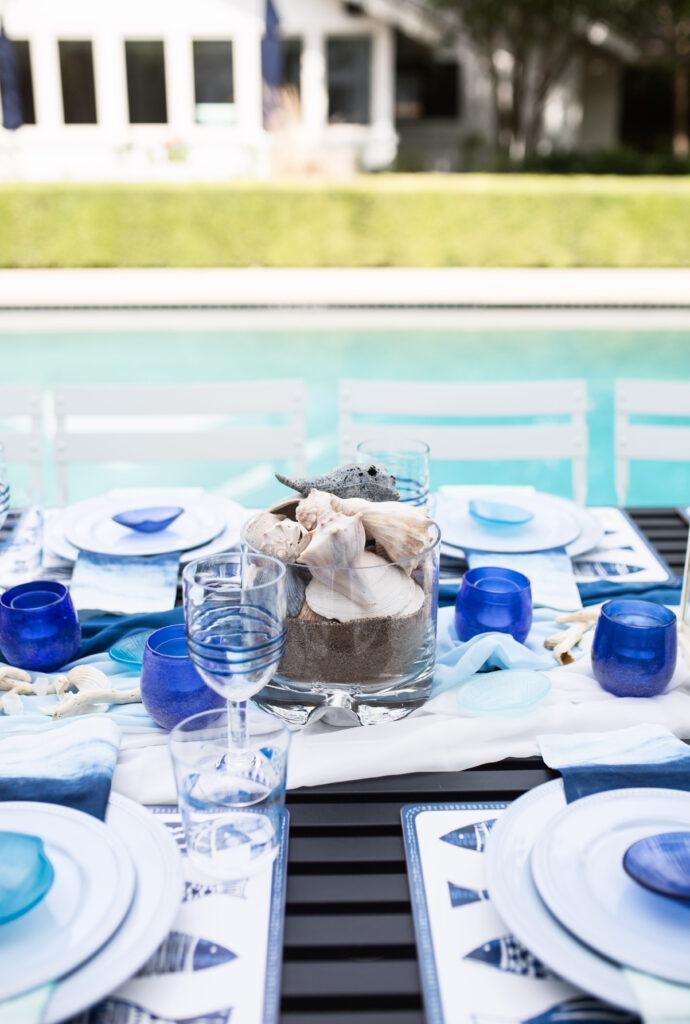 ocean-inspired dinner party