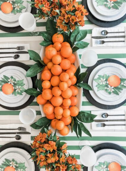 Green and Orange Table : In Between Summer and Fall