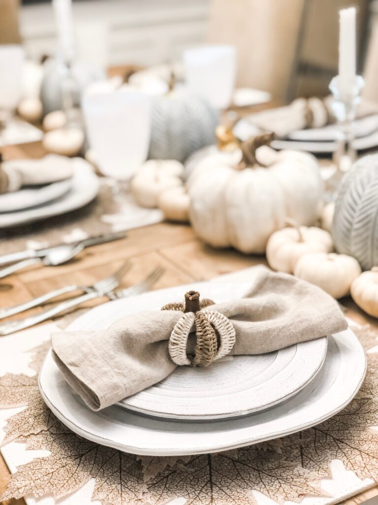 white fall table
