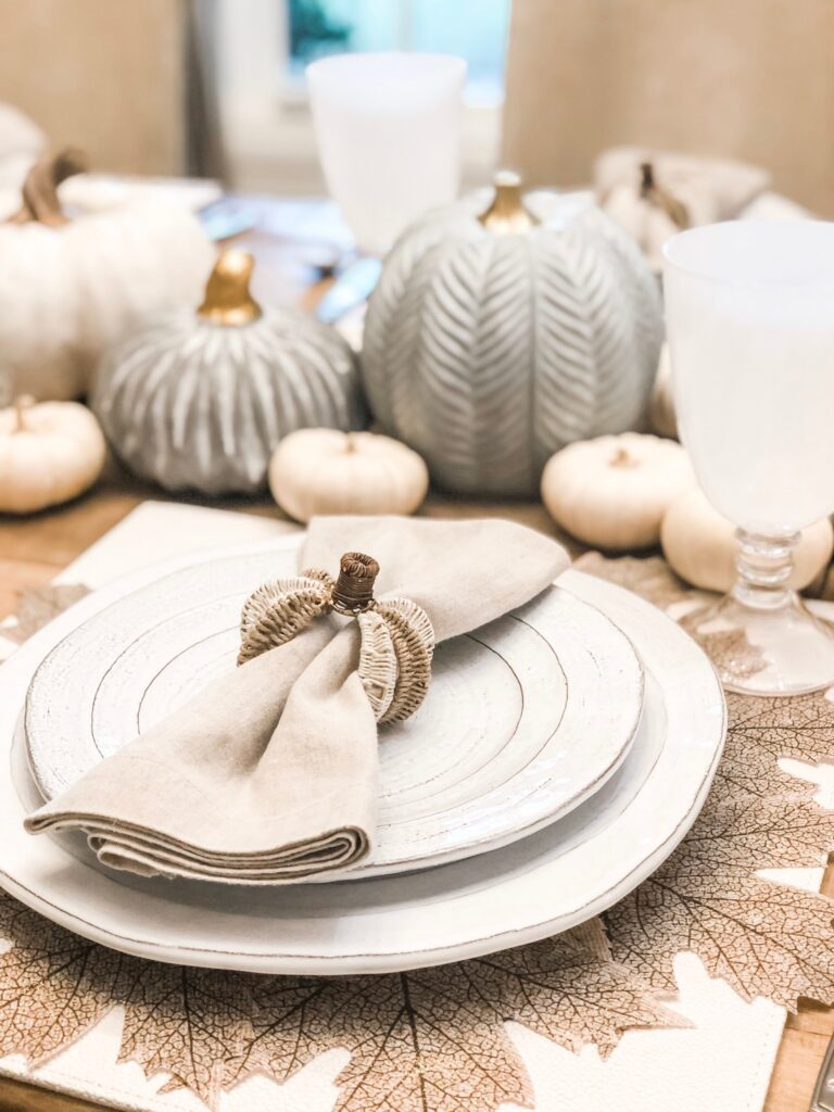 pumpkin napkin ring