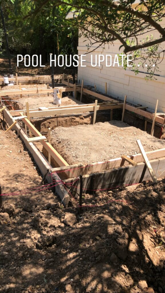 pool house build
