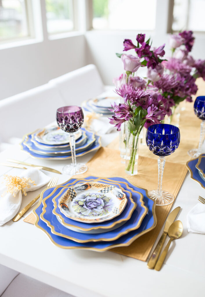 purple thanksgiving table
