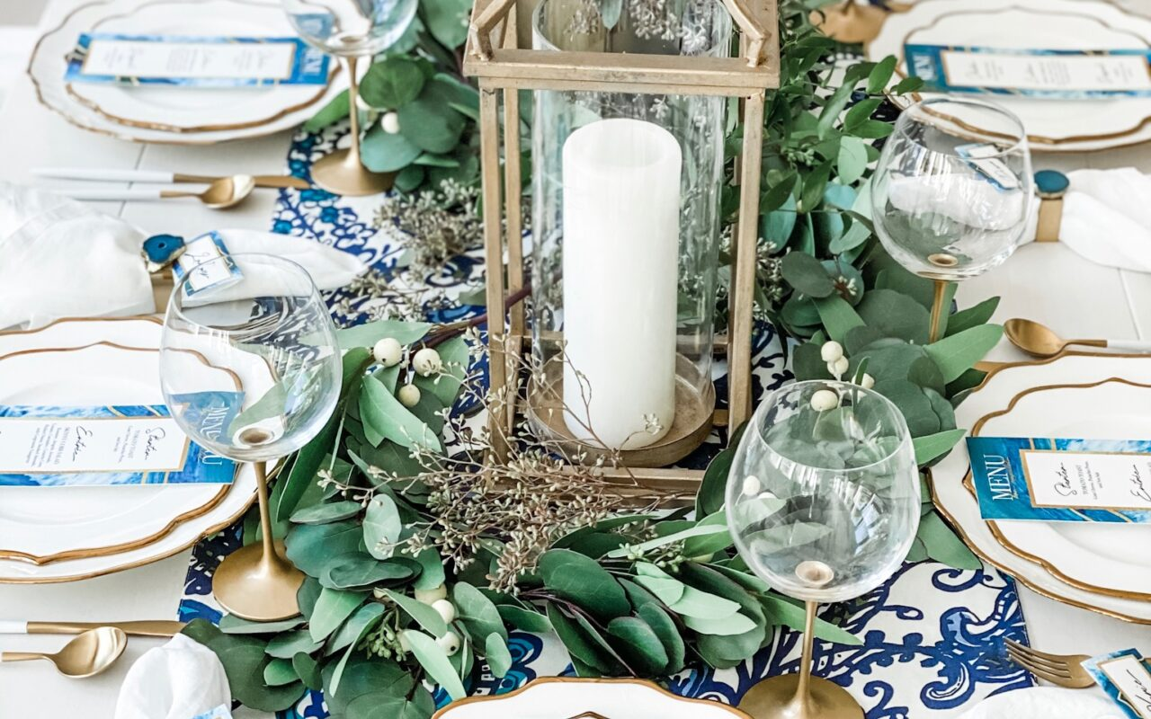 blue winter table