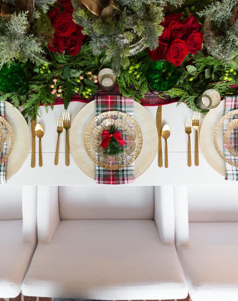 classic Christmas table